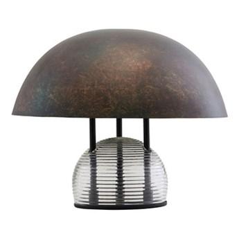 Designerska lampa stołowa Umbra ze szkła i metalu HOUSE DOCTOR