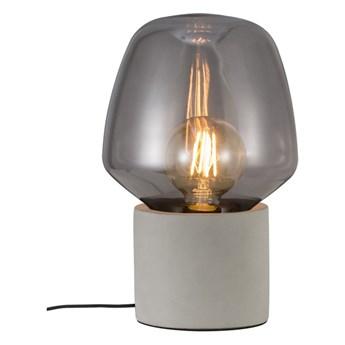 Szara lampa stołowa Christina z betonu i szkła NORDLUX
