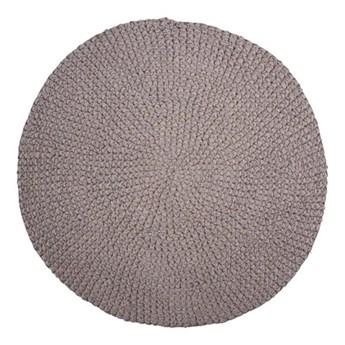 Szary okrągły dywanik Crochet 80 z bawełny HOUSE DOCTOR