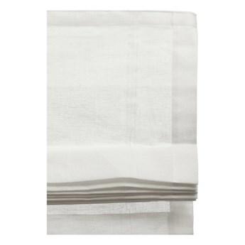 Biała roleta rzymska Ebba z lnu i bawełny 110x180 HIMLA