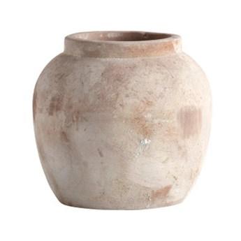 Doniczka gliniana Jarva 20 w kolorze piaskowym TINE K HOME