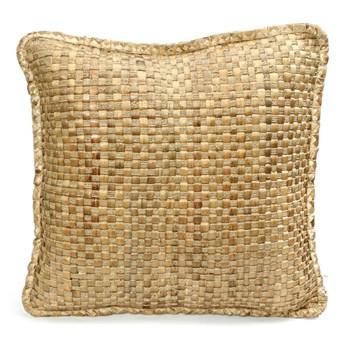 Naturalna poduszka dekoracyjna z Hyacinth 60x60 z hiacyntu wodnego BAZAR BIZAR