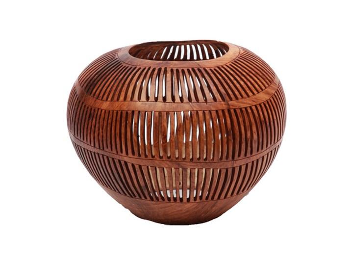 Brązowy świecznik Coconut Stripe Long z orzecha kokosowego BAZAR BIZAR Kategoria Świeczniki i świece