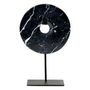 Dekoracja stojąca z czarnego marmuru Disc-L BAZAR BIZAR