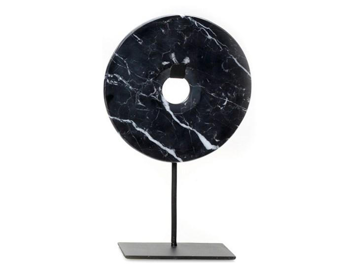 Dekoracja stojąca z czarnego marmuru Disc-M BAZAR BIZAR Kategoria Figury i rzeźby Kamień Kolor Czarny
