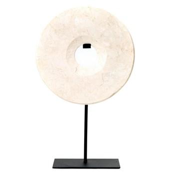 Dekoracja stojąca z białego marmuru Disc-L BAZAR BIZAR