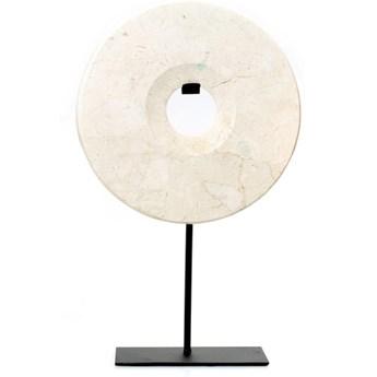 Dekoracja stojąca z białego marmuru Disc-M BAZAR BIZAR