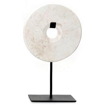 Dekoracja stojąca z białego marmuru Disc-S BAZAR BIZAR
