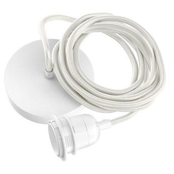 Biała lampa sufitowa przewód oprawka do abażurów wiszących z białym przewodem BAZAR BIZAR