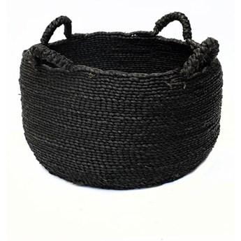 Czarny kosz Les Quatre Mains-M z trawy morskiej BAZAR BIZAR