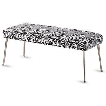 Ławeczka tapicerowana Metal Zebra