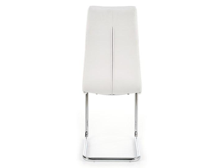 Krzesło K147 białe HALMAR Metal Tworzywo sztuczne Tkanina Stal Tapicerowane Kolor Srebrny