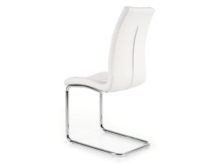 Krzesło K147 białe HALMAR Tapicerowane Metal Stal Tkanina Tworzywo sztuczne Styl Nowoczesny