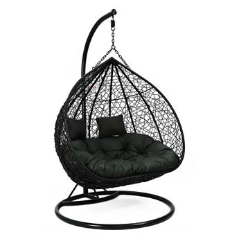 Podwójny kosz fotel jajo ogrodowe huśtawka XXL
