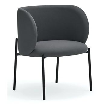 Krzesło z podłokietnikami Mogi 65x74 cm ciemnoszare