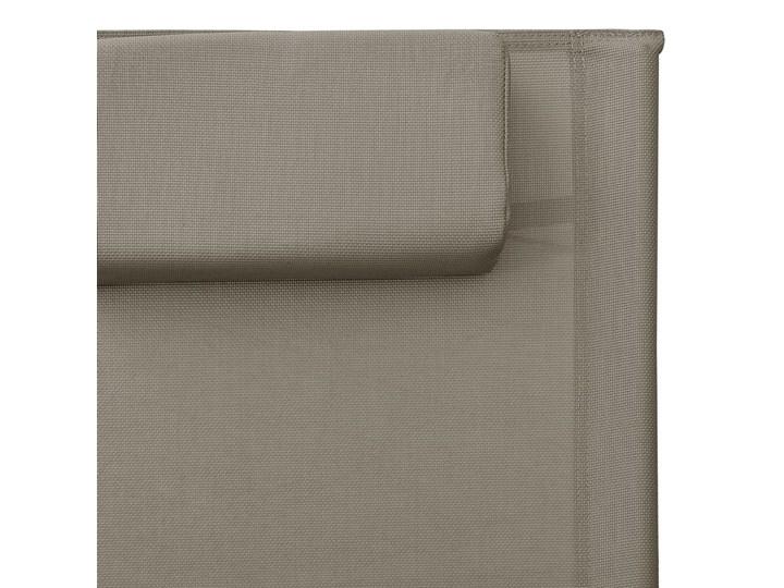 vidaXL Leżak, tworzywo textilene, taupe i szary Metal Aluminium Kategoria Leżaki ogrodowe