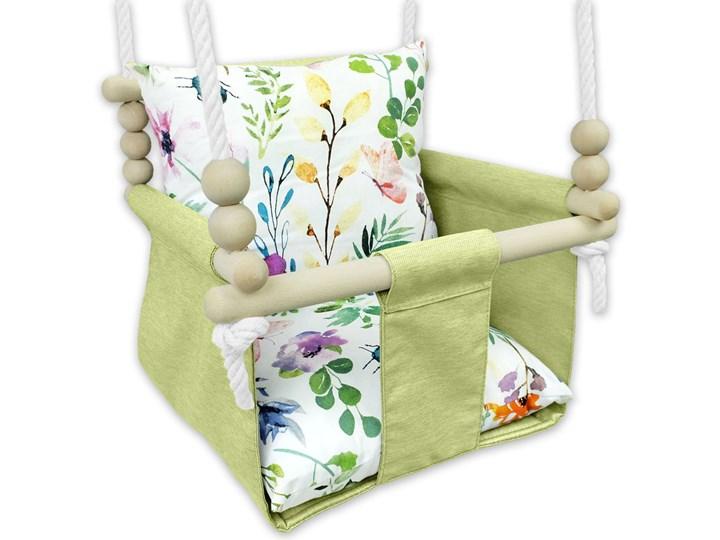 Drewniana huśtawka dla dziecka kwiaty - Glofi Drewno Kategoria Huśtawki dla dzieci