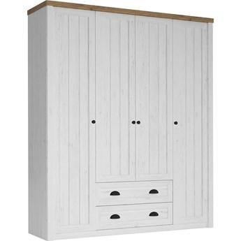 Prowansja Andersen S4D - szafa 4 drzwiowa 2 szuflady