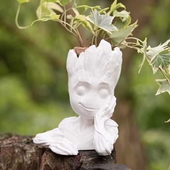 Doniczka ozdobna Baby Groot Strażnicy Galaktyki Ekologiczny Gips Ceramiczny (Kolor: Biały)