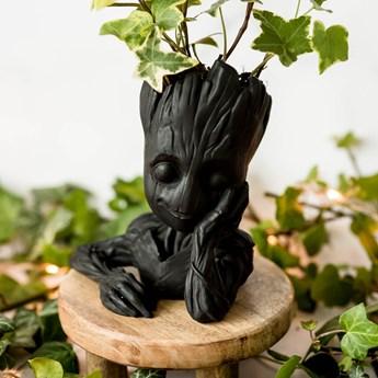Doniczka ozdobna Baby Groot Strażnicy Galaktyki Ekologiczny Gips Ceramiczny (Kolor: Czarny)