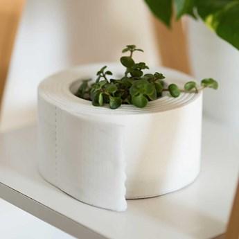 Doniczka ozdobna Papier Toaletowy Ekologiczny Gips Ceramiczny (Kolor: Biały)