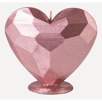 Świeca ozdobna Serce Kolory do Wyboru (Kolor: Srebrny)