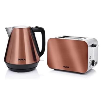 Zestaw czajnik elektryczny 1700 ml i toster opiekacz DUKA BOSSE miedziany