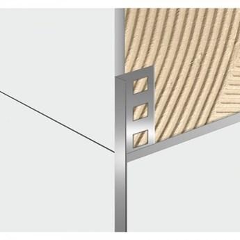 Egen Listwa dekoracyjna aluminiowa L-kształtna 1x244 cm srebrna