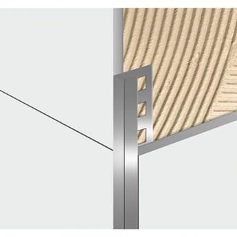 Egen Listwa dekoracyjna aluminiowa U-kształtna 1x244 cm srebrna