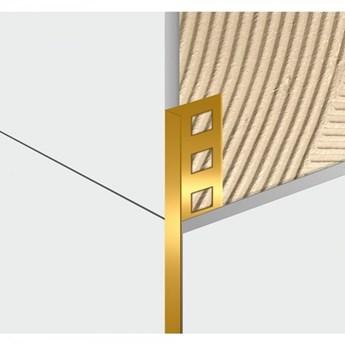 Egen Listwa dekoracyjna aluminiowa L-kształtna 1x244 cm złota