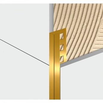 Egen Listwa dekoracyjna aluminiowa U-kształtna 1x244 cm złota