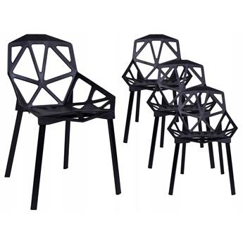 Krzesło nowoczesne VECTOR - zestaw 4 sztuki - czarny