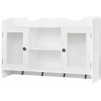 Biała szafka ścienna z drzwiczkami - Clifford