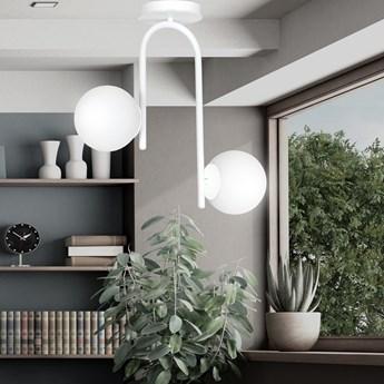 KALF 2 WHITE 1031/2 nowoczesna lampa sufitowa biała szklane klosze