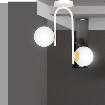 RAGNAR 2 WHITE 1033/2 nowoczesna lampa sufitowa biała szklane klosze