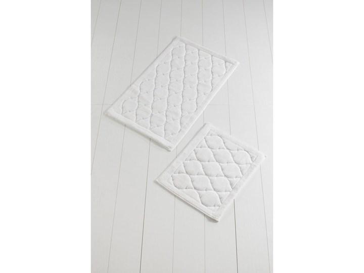 Zestaw 2 dywaników łazienkowych ze 100% bawełny Dante Ecru 60x100 cm 50x60 cm Prostokątny Bawełna Kategoria Dywaniki łazienkowe