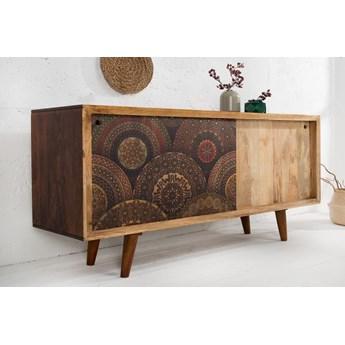 Komoda drewniana Mandala 160x45 cm z przesuwnymi drzwiami
