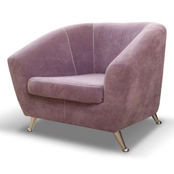Fotel Lira, nowoczesny na chromowanych nóżkach 101x59 cm