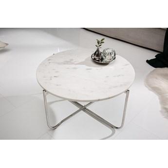 Stolik kawowy Noble FI60 cm / biały marmur