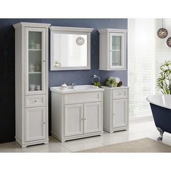 Zestaw białych mebli łazienkowych Palace White stylizowane szafka 80 cm