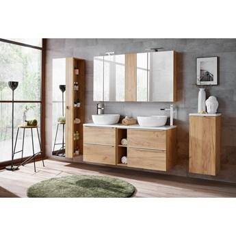 Zestaw mebli łazienkowych Capri Oak set 140 dwustanowiskowy