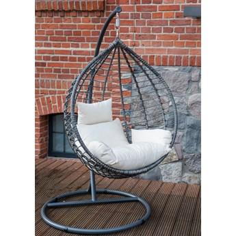Fotel wiszący z technorattanu - bujany - huśtawka ogrodowa - kokon Spesso