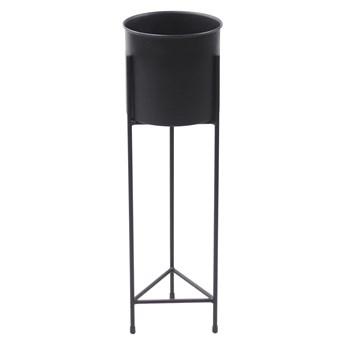 Kwietnik Metalowy Stojak z donicą FIORI 70cm czarny loft 05-11