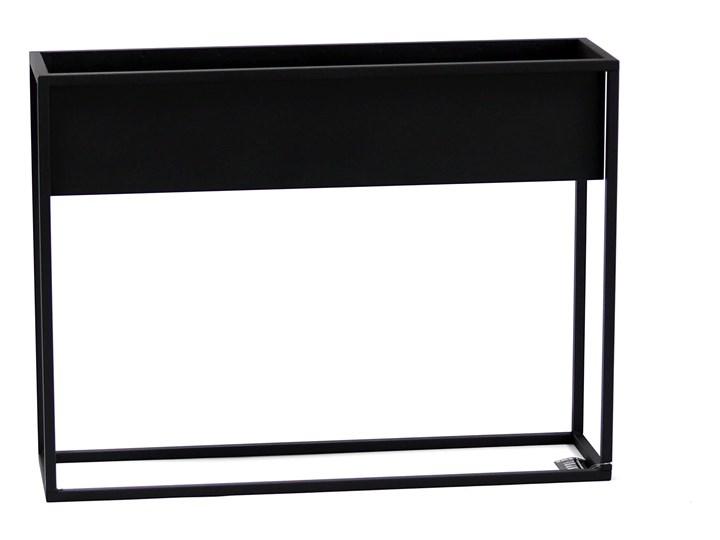 Kwietnik Metalowy Stojak CUBO 60x80cm czarny skrzynka loft 05-07 Donica ogrodowa Donica balkonowa Kategoria Donice ogrodowe