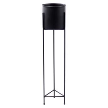 Kwietnik Metalowy Stojak z donicą FIORI 90cm czarny loft 05-10