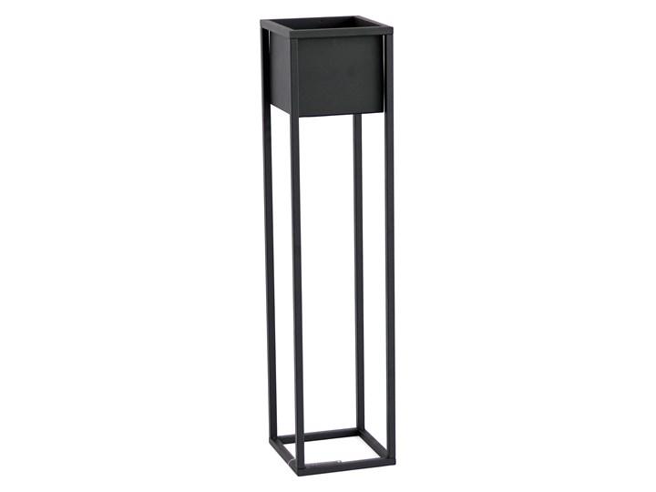 Kwietnik Metalowy Stojak CUBO 90cm czarny skrzynka loft 05-01