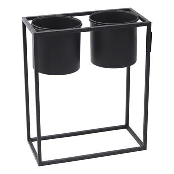 Kwietnik Metalowy Stojak z donicami UGO 60x50cm czarny loft 05-18