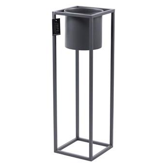 Kwietnik Metalowy Stojak z donicą UGO 80cm szary loft 05-17/S