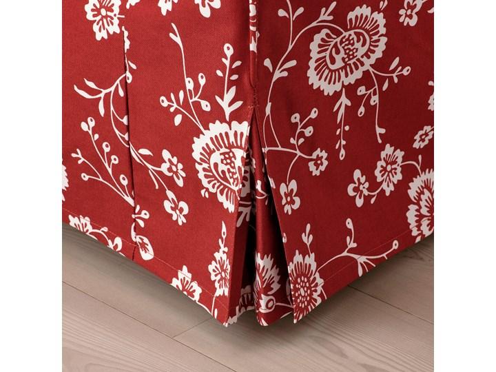IKEA EKTORP Sofa narożna 4-osobowa, Virestad czerwony/biały, Minimalna szerokość: 243 cm Lewostronne Prawostronne Rozkładanie