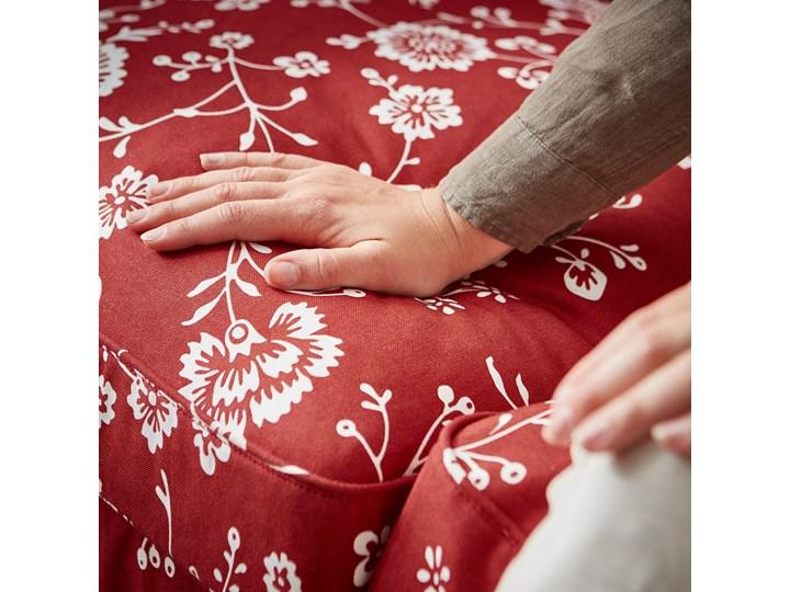 IKEA EKTORP Sofa narożna 4-osobowa, Virestad czerwony/biały, Minimalna szerokość: 243 cm Lewostronne Nóżki Bez nóżek Prawostronne Rozkładanie